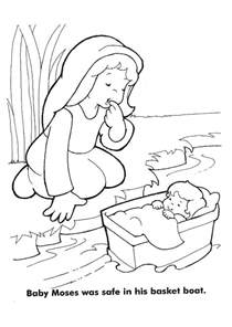 baby moses coloring page baby moses coloring pages az coloring pages