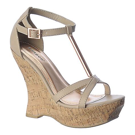 bamboo slimmer 07 s casual wedge shoe shiekh