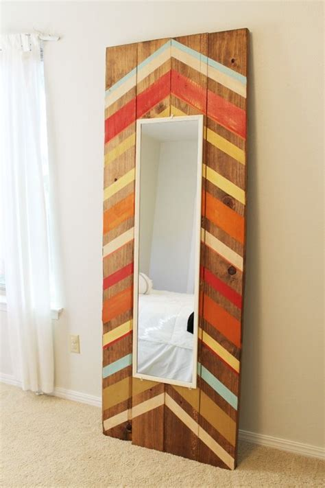 diy full length floor mirror dark brown nautical design