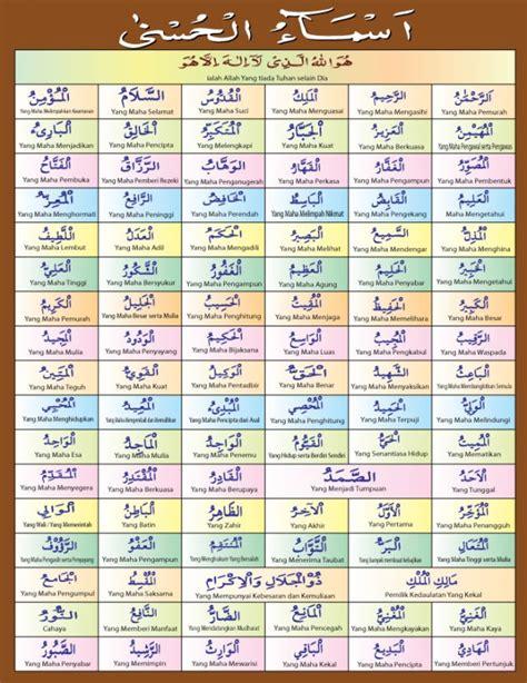 asmaul husna daftar tulisan  arti check porsi haji