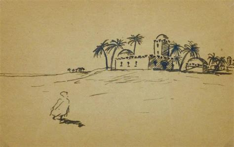 Sketches D Algerie by Emile Cravoisier Antique Pen And Ink Drawing