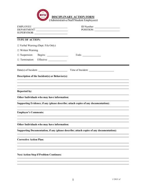 employee warning form employee write up form 6 free word pdf
