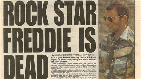 freddie mercury death bed november 24 1991 freddie mercury dies at 45 and takes a