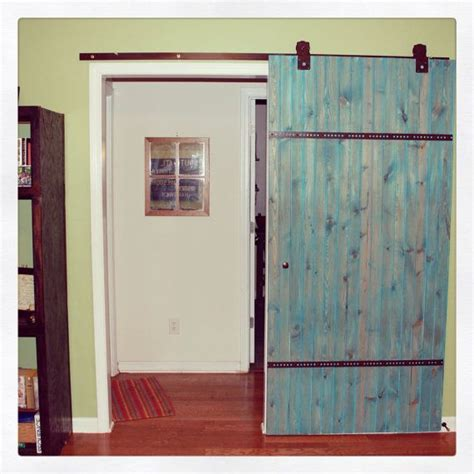 Blue Barn Doors Barn Door Wood Bare Interior Door Reclaimed Wood Home Decor