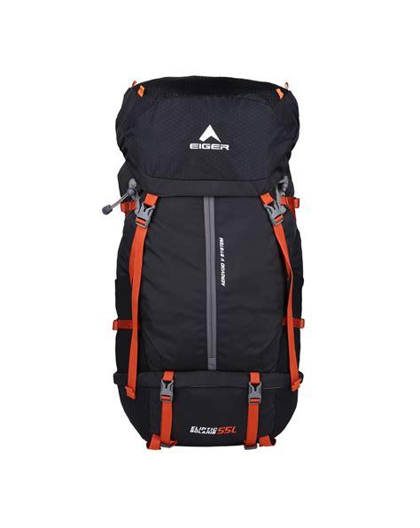 Cover Bag Eiger eiger eliptic solaris 55l black orange