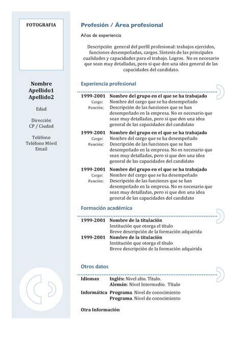 Plantilla De Curriculum Empresarial En Blanco Ejemplos De Dise 241 O De Curr 237 Culums Formaci 243 N Dinero Y Empleo Desde Tu Ordenador
