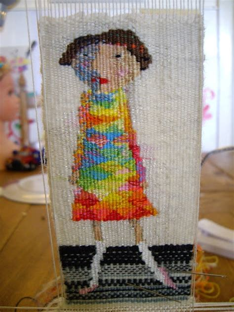latest tiny weaving this is one of my new tapestries it s tiny rachel hine