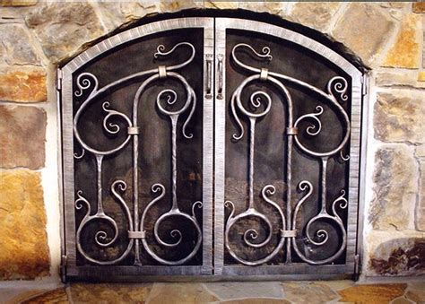 Custom Iron Fireplace Screens by Fireplace Screens With Palmetto Tree Design