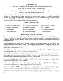 Resource Sle Resume by Manager Cv Exles