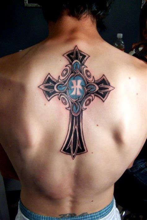 cross tattoos on back for men 46 cross tattoos ideas for and inspirationseek