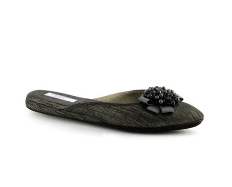 s leather slippers s slippers silver pinstripe gleam black