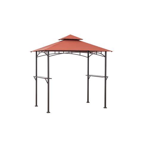 pavillon metall 4 x 5 sunjoy aragon 8 ft x 5 ft rust steel soft top grill