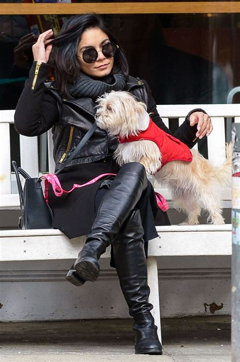 play with puppies nyc hudgens with in new york city march 2015