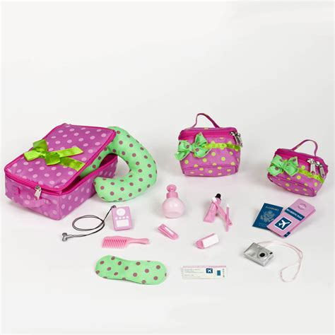 Travel Set For Doll our generation luggage and travel set og doll luggage