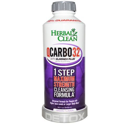 Detox Cleanse by Herbal Clean Qcarbo32 Detox Grape Flavor 32 Fl Oz 948