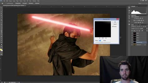Lightsaber Tutorial Photoshop Cs5 | photoshop tutorial lightsaber effect youtube