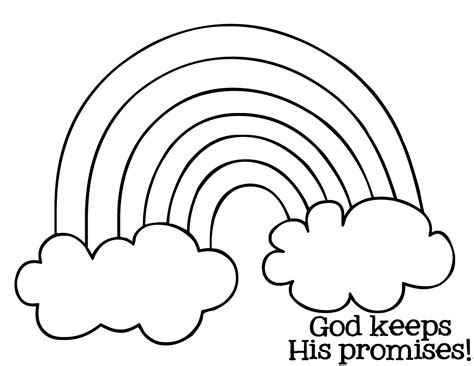 rainbow coloring page kindergarten free rainbow bible lesson activity mysunwillshine com