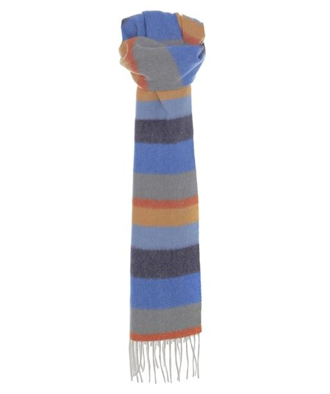 Striped Scarf jules b multi striped wool scarf jules b