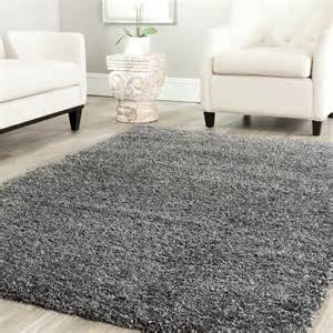 livingroom area rugs power loomed solid grey shag area rug 8 x 10 ebay