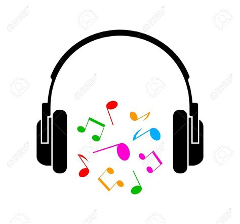 earbuds with music notes clipart clipartxtras