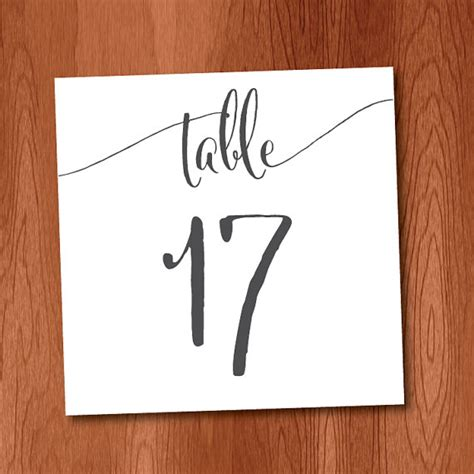 free printable table numbers 1 10 diy table numbers for large wedding 1 40 instant download