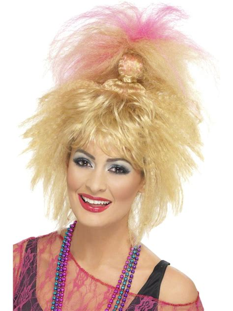 80s Wig by 80 S Crimped High Ponytail Wig 43256 Fancy Dress