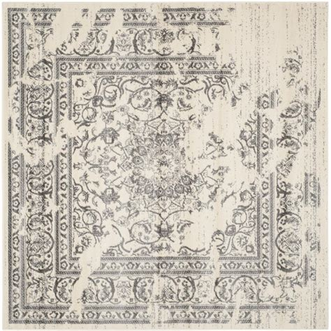 Square Area Rugs 9 X 9 Safavieh Adirondack Ivory Silver 9 Ft X 9 Ft Square Area Rug Adr101b 9sq The Home Depot