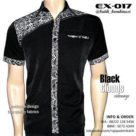 5 Motif Kemeja Pria Kombinasi Batik Cap Hitam Putih Elegan 100 gambar batik modern hitam putih dengan jual gamis
