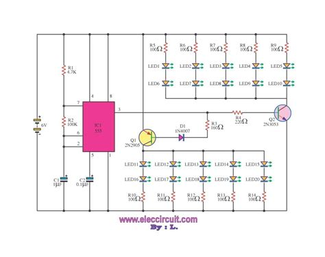 blinking light circuit diagram how to build an led flasher circuit with a 555 timer chip