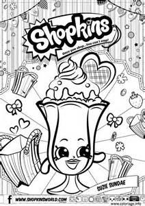 coloriage shopkins suzie sundae dessin