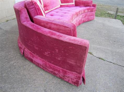 hot pink couch scrumptious harvey probber hot pink crescent sofa mid