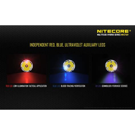 nitecore mh27uv ultraviolet senter led cree xp l hi v3
