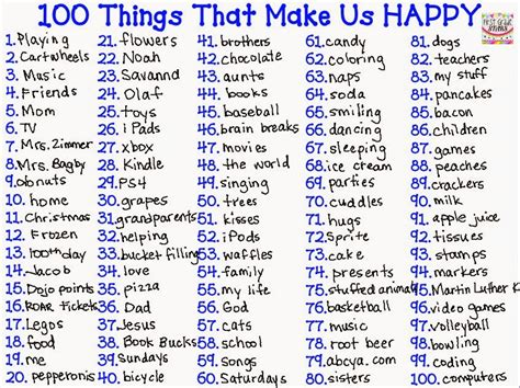 5 Things To Make You Happy by Grade 100 Days Of Happiness