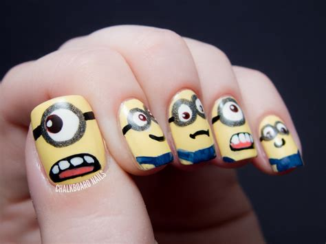 tutorial nail art minions beauty tutorials by dgb how to minions nail art tutorial