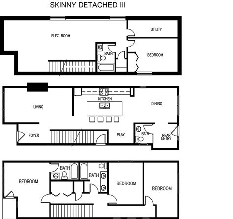 skinny houses floor plans edmonton skinny home suites builder on narrow lots