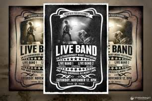 free band poster templates live band flyer bundle v1 thats design shop
