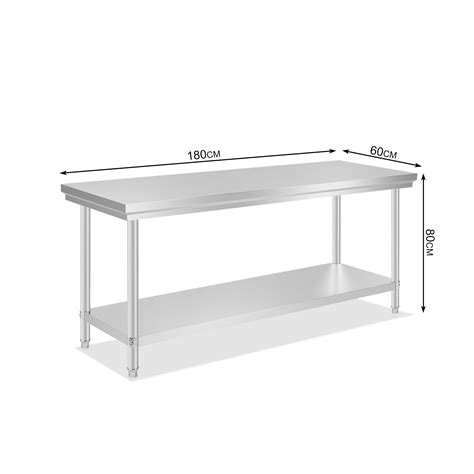 Stainless Kitchen Prep Table New Commercial Stainless Steel Kitchen Work Prep Table Nsf Approved All Sizes Ebay
