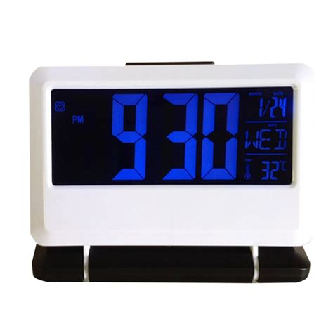 sound clap digital led alarm clock desktop time calendar clock nj ebay