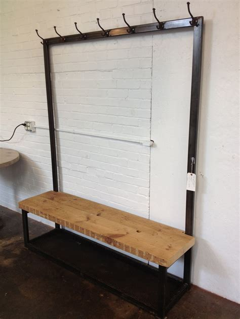 Mudroom Coat Rack Bench Industrial Mudroom Bench And Coat Rack Industrial