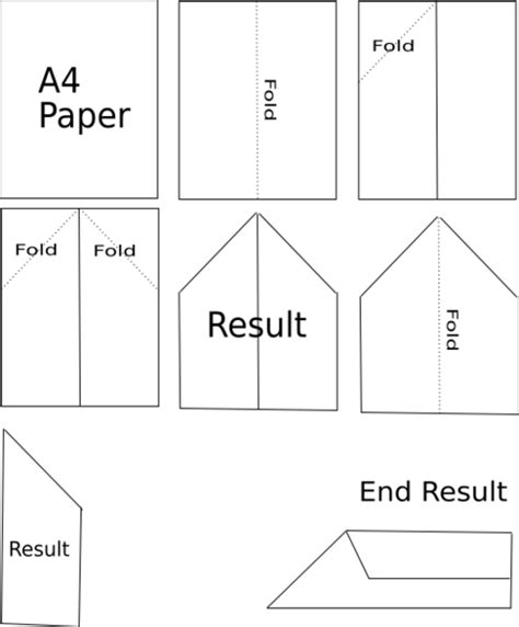 Wiki How To Make A Paper Airplane - file paper plane diagram png wikimedia commons