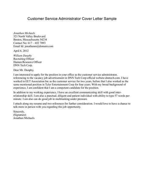 Customer Relation Letter Doc 650819 Customer Relations Manager Cover Letter Bizdoska