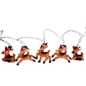 vintage reindeer string christmas lights from party pieces