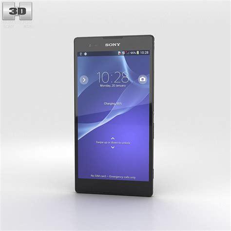 Sony Xperia T2 Ultra sony xperia t2 ultra black 3d model humster3d