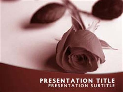 Royalty Free Funeral Powerpoint Template In Red Funeral Slideshow Template