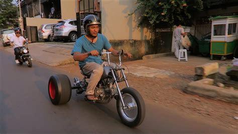 motovlog testride motor roda tiga diy honda monkey