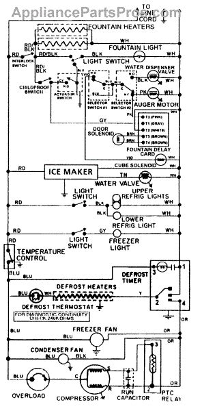 maytag refrigerator wiring diagram parts for maytag rsw2400eae wiring information parts appliancepartspros