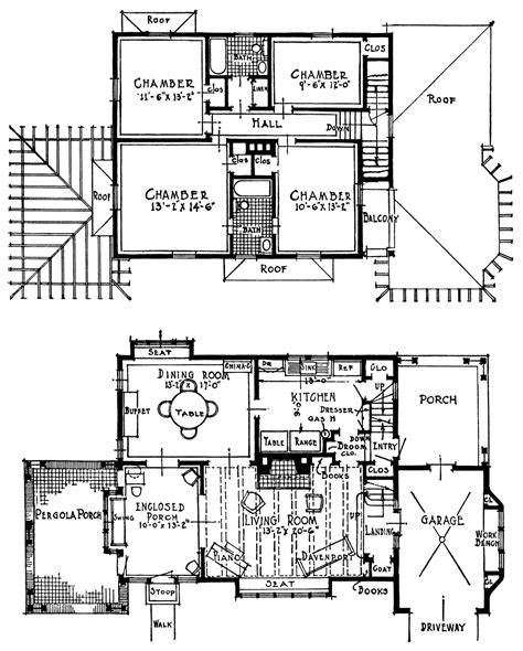 floor plan clip art vintage homes with attached garages old design shop blog