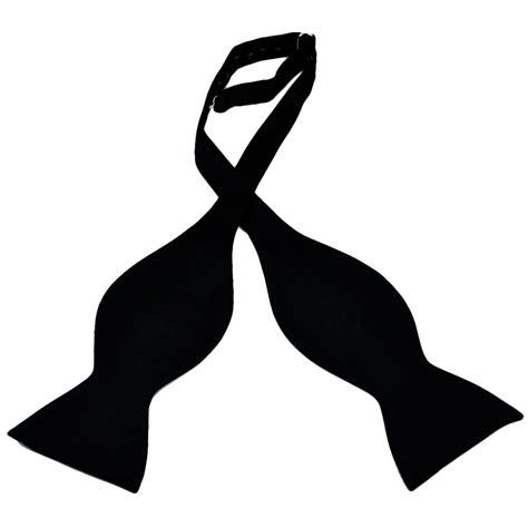 plain black self tie silk bow tie from ties planet uk