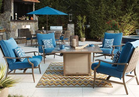 pit table set partanna blue 5pc square pit table set