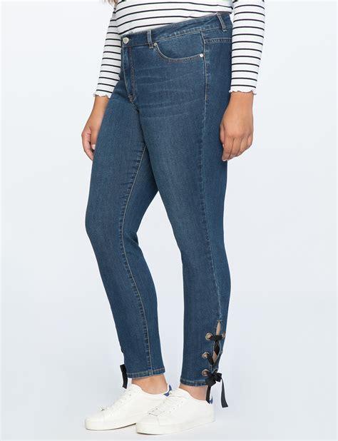 Lace Up Jean lace up grommet jean s plus size eloquii